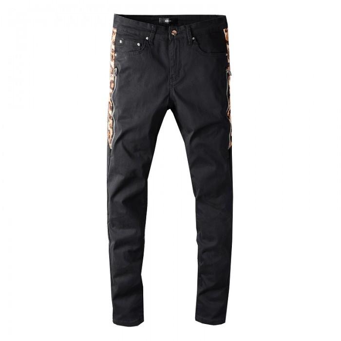 Replica Amiri Leopard Half Jeans