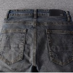 Replica Amiri cashmere patch jean
