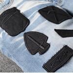 Replica Amiri painter military patch jean