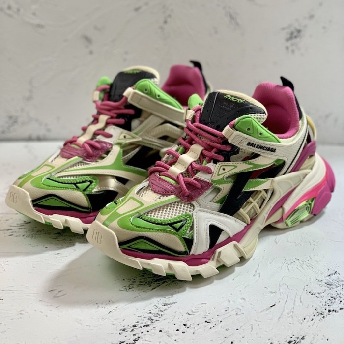 Balenciaga Track 2 Sneakers Green/Pink