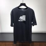 Replica Balenciaga bb logo printed t shirt