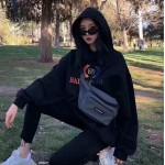 Replica BB Balenciaga printed hoodies Rainbow