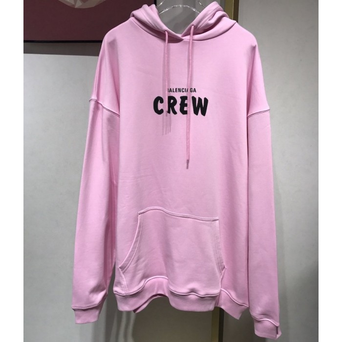 Balenciaga Crew Hoodies in Pink and