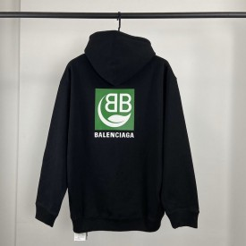 Replica Balenciaga Green Logo Hoodies