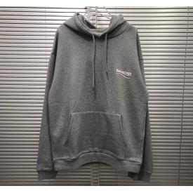 Replica Balenciaga Print Hoodies Grey