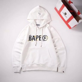 Replica Bape Sta Wide Hoodies White