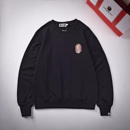 Replica Bape badge sweater black