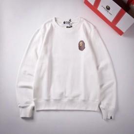 Replica Bape badge sweater white