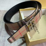 BUR Reversible Monogram Motif Vintage Check Belt