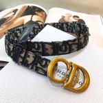Replica Dior Saddle Belt blue