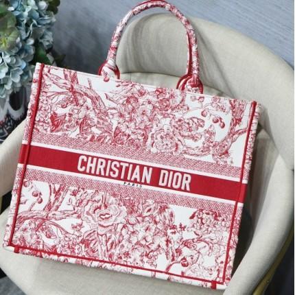 Replica Dior Book Tote Bag Peony