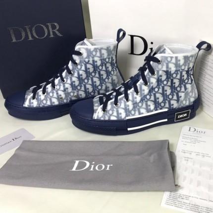 Replica Dior B23 High Top Oblique Blue