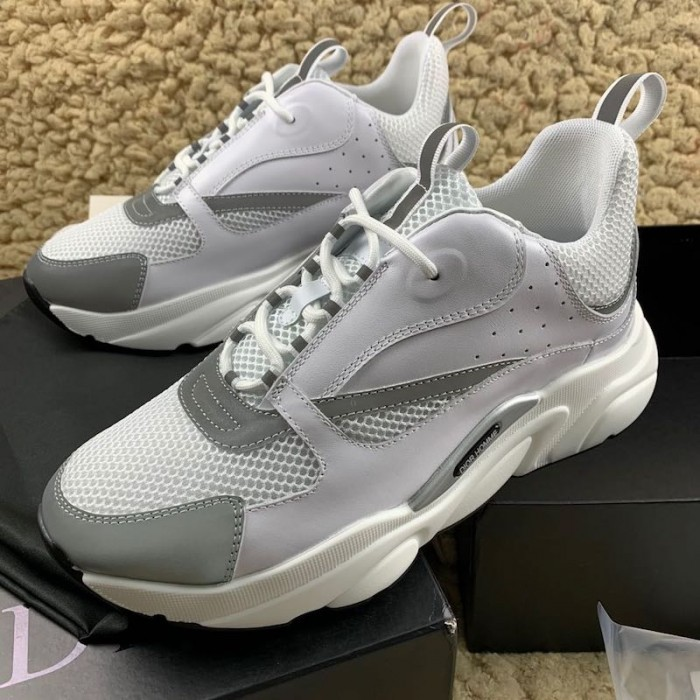 Dior B22 Trainer In White Technical
