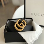 Replica Gucci Leather belt with Double G buckle