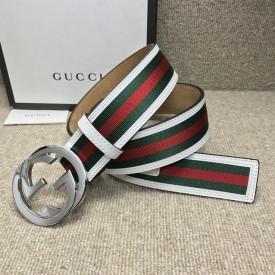 replica Gucci Stripe Leather Belt