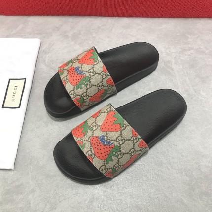 Replica Gucci GG Strawberry Slide