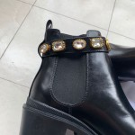 Replica Gucci Leather ankle boot
