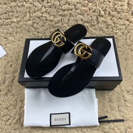 Replica Gucci Leather thong sandal