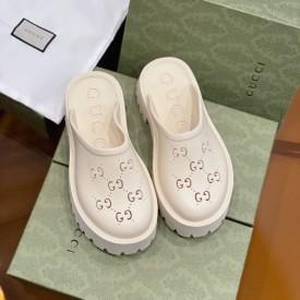 Replica Gucci Women's platform perforated G sandal