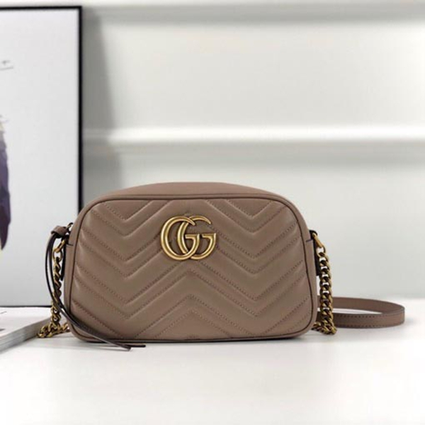 Gucci GG Marmont Small Matelasse Shoulder Bag 447632 Nude