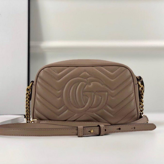 Gucci GG Marmont Small Matelasse Shoulder Bag Nude 447632
