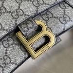 Balenciaga x Gucci GG canvas shoulder bag 658575