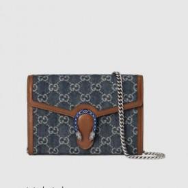 Replica Gucci Denim Dionysus mini chain Bag