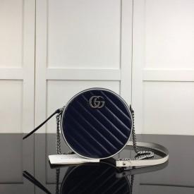 Replica Gucci GG Marmont mini round shoulder bag