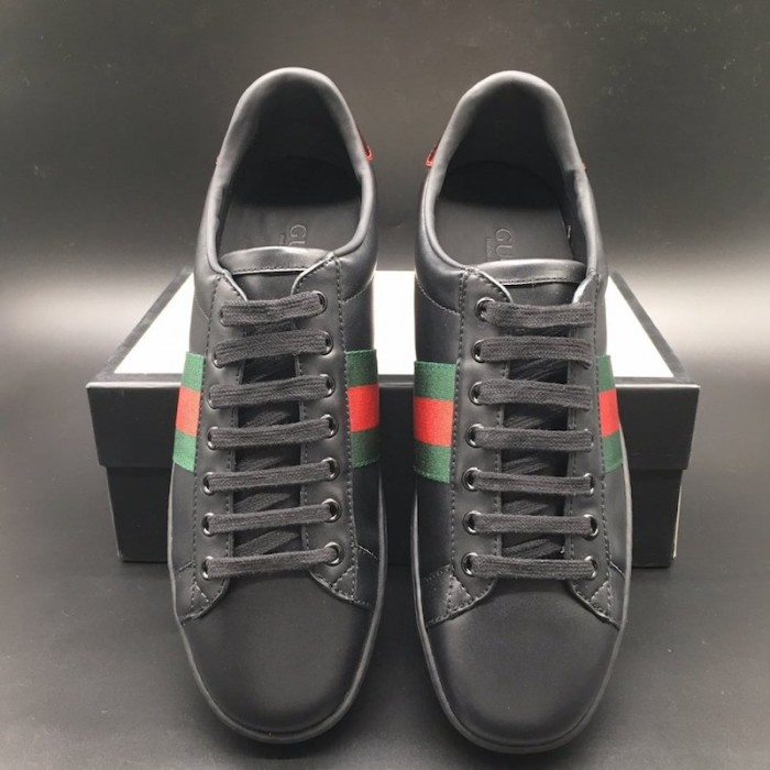 Gucci Men's Ace leather sneaker black