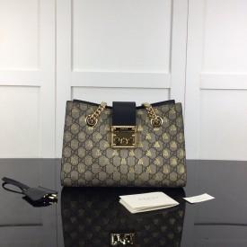 Replica Gucci Padlock small GG bees shoulder bag