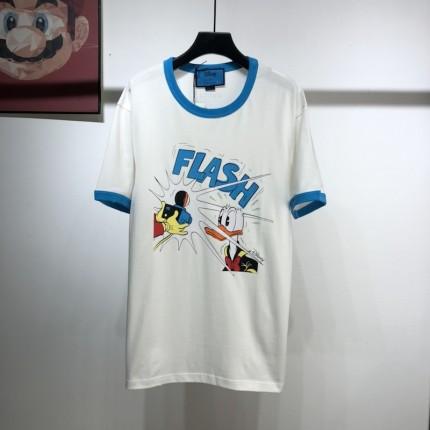 Replica Donald Duck print  gucci T-shirt