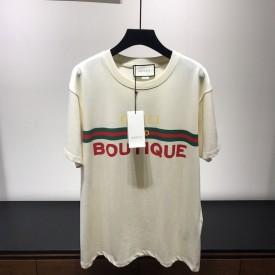 Replica Gucci Boutique print oversize T-shirt