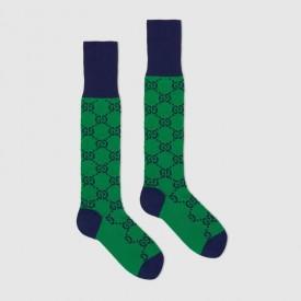 Replica Gucci GG Multicolour socks green