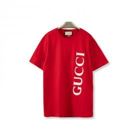 Replica Gucci print oversize T-shirt Red