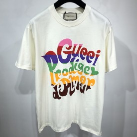 Replica Gucci Prodige d'Amour' print T-shirt