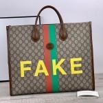 Replica Gucci Fake Not print tote bag