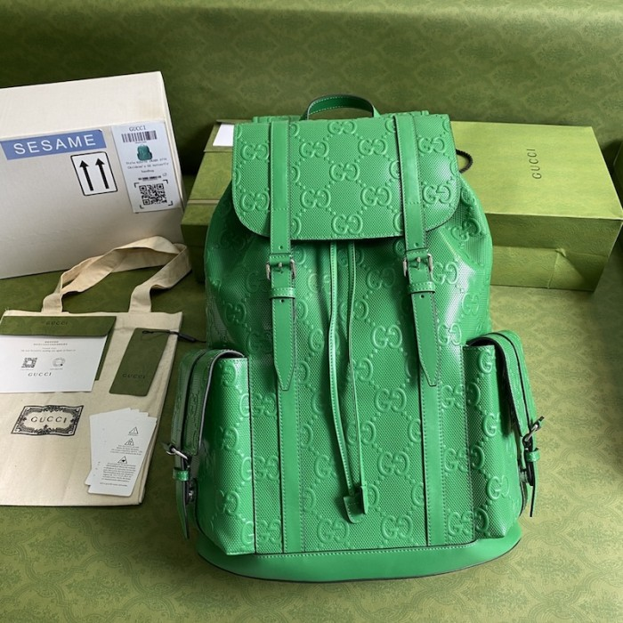Replica Gucci GG embossed backpack Green