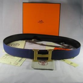 Replica Hermes Reversible Togo Leather Belt