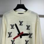 Replica LV Clock Intarsia Pullover