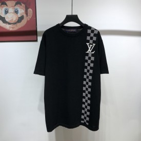 Replica LV Damier Stripe Jacquard T-shirt
