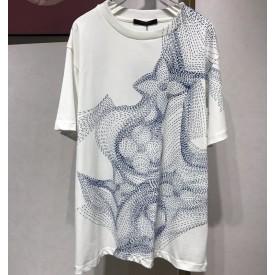 Replica LV Flower Printed T-Shirt
