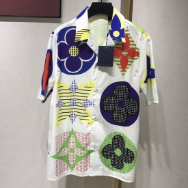Replica LV Multicolor Hawaiian shirt