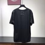 LV planes printed t shirt black