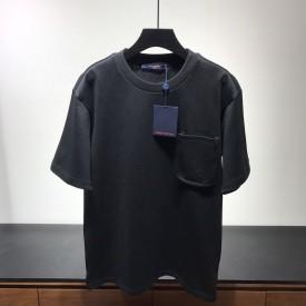 Replica LV Signature 3D Pocket Monogram T shirt Black