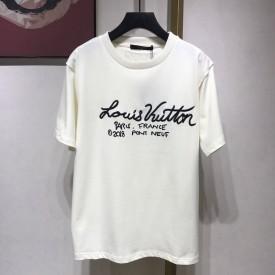 Replica LV Signature Print T Shirt