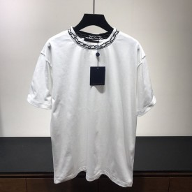 Replica LV t shirt with chain white