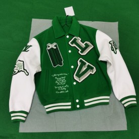 Replica LV Varsity Leather Jacket
