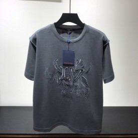 Replica LV Vegetal Lace Embroidery T Shirt