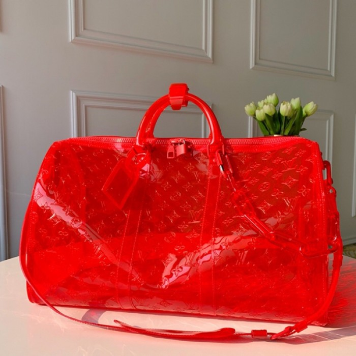 Replica LV Keepall Bandouliere 50 prism red