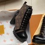 Replica LV monogram boot heel